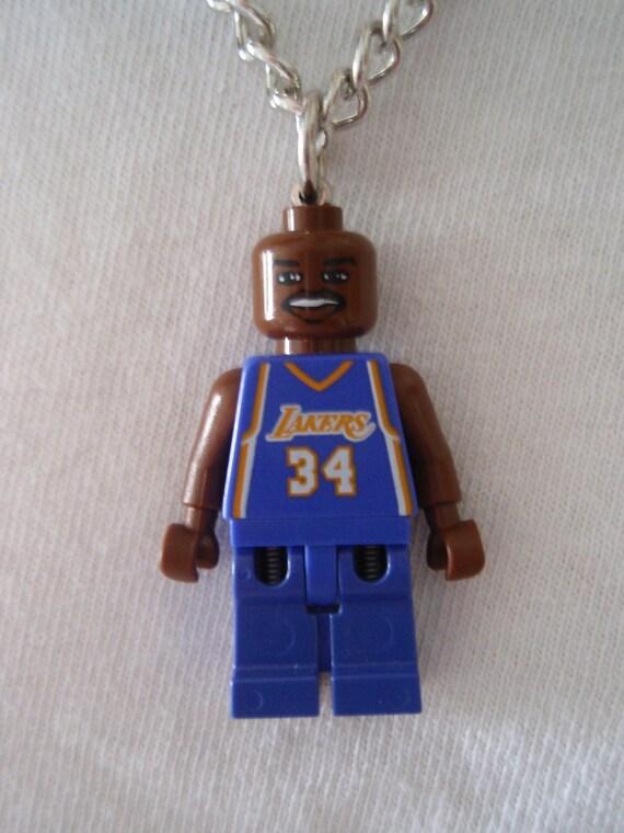 Custom LEGO NBA Basketball Team LA Lakers - Shaquille O'Neal No. 34 Necklace