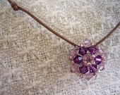 Violet crystal necklace