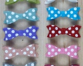Your Choice Polka Dot Wool Felt Bow Headband