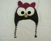 Knit Owl Hat - any size