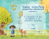 Daisy Investiture Certificate - Single Scout