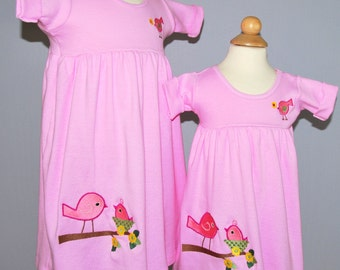 100 Percent Cotton Kint Summer Dress with Embroidery or Applique of Choice Many Colors to Choose From Sizes 3/6 mo thru 3T
