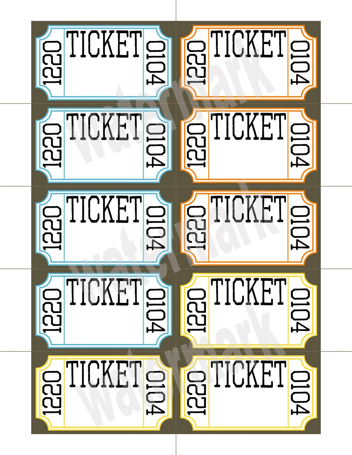 Raffle Ticket Templates Raffle tickets printable great