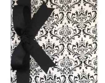 Tight Bound Baby Memory Book - Black Damask