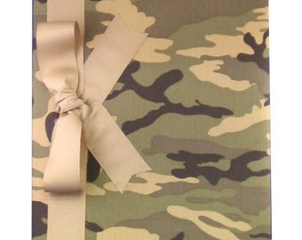 Tight Bound Baby Memory Book - Green Camouflage