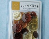 Reserved Listing Brown Glitter Buttons  made by Elements