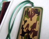 Green/Brown Camo Laminated Bookmark