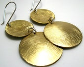 Inside Out Disks. Earrings. Brass. MADE TO ORDER.