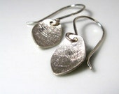 Tiny Leaves. Earrings. Sterling Silver. MADE TO ORDER.