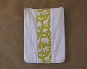 Modern Baby Burp Cloth - Down By the Banks Collection
