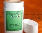 Organic Tea Tree Mint Deodorant