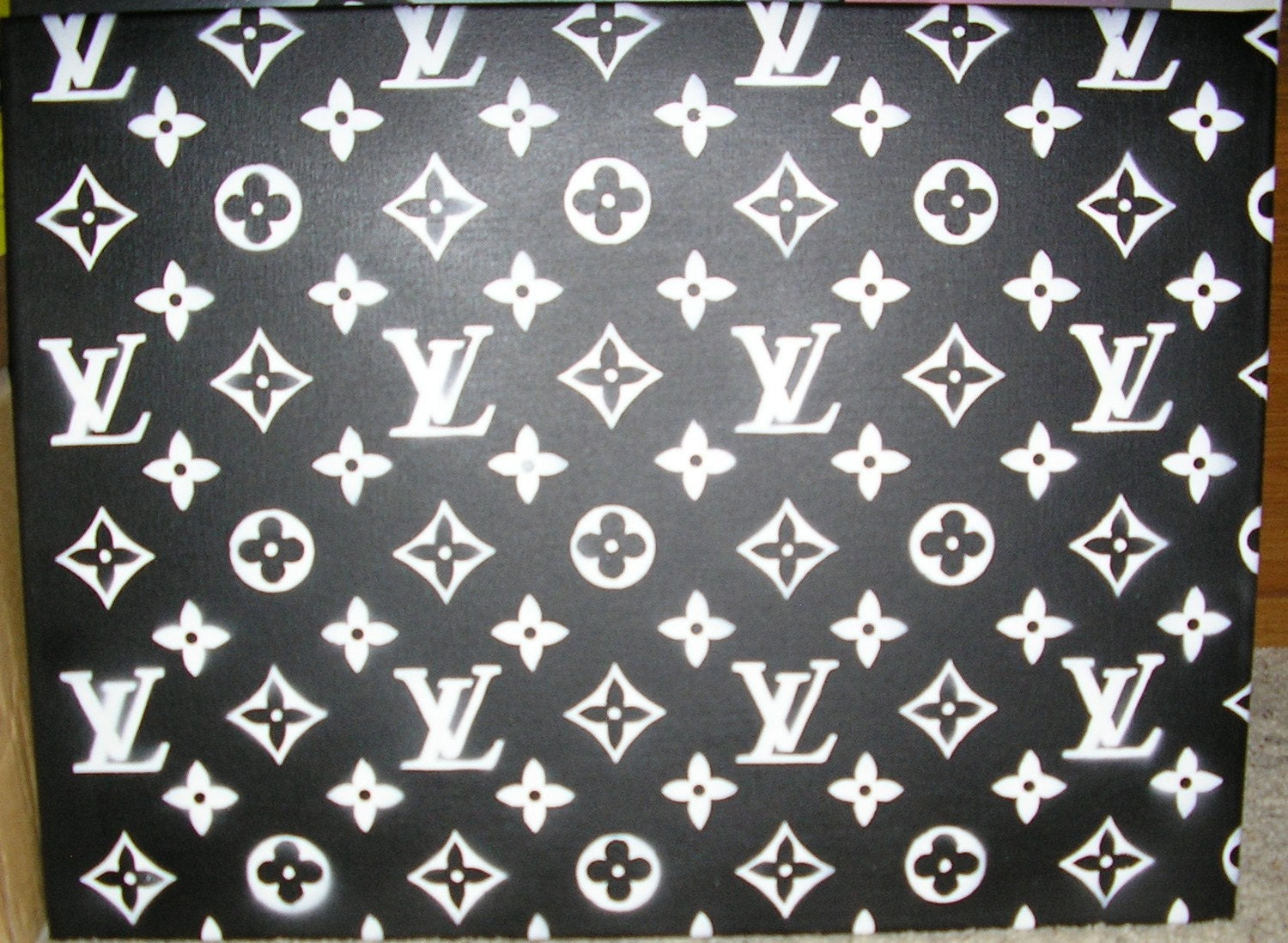 louis vuitton pattern original painting by badams12 on etsy. Black Bedroom Furniture Sets. Home Design Ideas