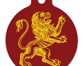 Mighty Lion -- customized dog tags for dogs, 2 sided, aluminum, by thebetterpettag on Etsy