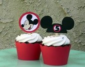 Mouse Club Cupcake Toppers