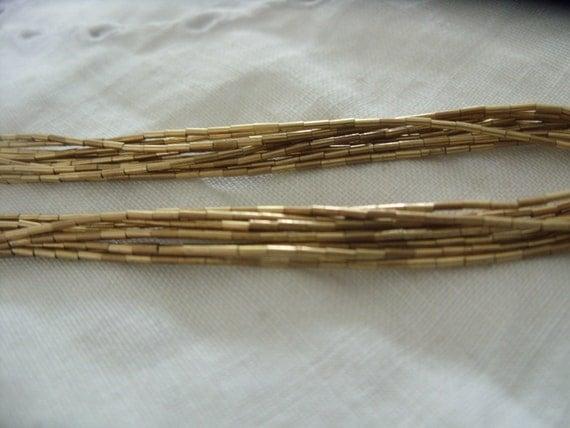 Vintage - 12kt Gold filled - Attractive multi strand necklace