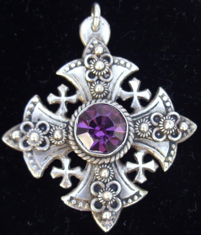 Large Blue Stone Pendant Necklace
