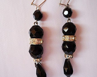 The Spanish Beads Earrings.Shiny.80s