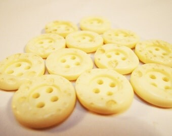 White Japanese Buttons. 50s