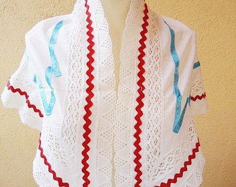 Spanish Shawl. Lace. Cotton.70s.N.1
