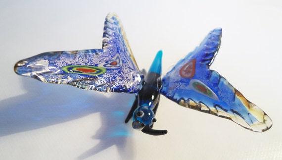 Murano Italian Butterfly Glass.70s.Bright