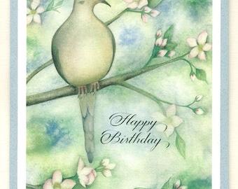 Birthday Card, watercolor dove