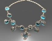 Blue woven snails