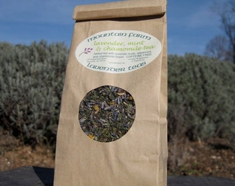 Lavender, Mint & Chamomile All Natural Herbal Tea - Tranquil /Tasty - Caffeine Free - Bulk Bag
