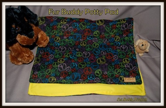 "Fur Buddy Potty Pads, Eco Frendly washable and attractive, Generous  18"" W x 29"" L"