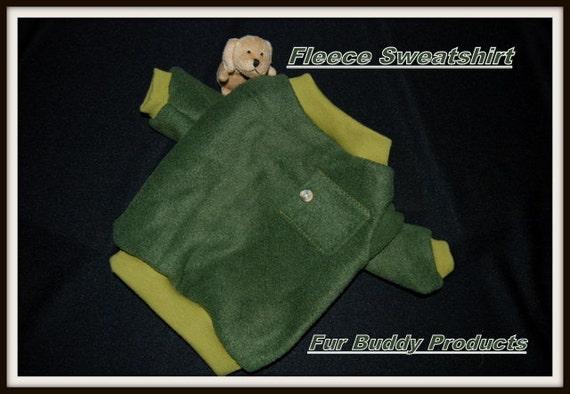 Clearance priced Fur Buddy Products Fleece Sweatshirt Regular price 15.95 now just 7.99