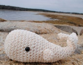Woolie Whale Hand Crocheted Plush - White - Small