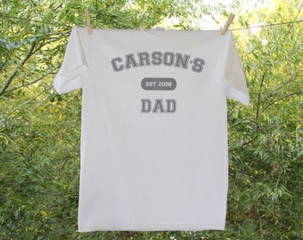 Dad Shirt - Established in... with Personalization