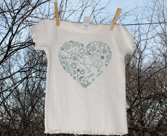 Let There Be Peace Heart - Shirt