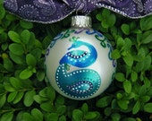 Peacock Ornament - Personalized - Peacock Wedding, Hand Painted Personalized Wedding, Christmas - Peacock Feather, Peafowl Newlywed Ornament