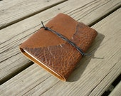 Rustic Leather Journal, Diary, Leather Notebook, or Travel Journal Made in Vermont