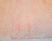 Baby Love Fabric Susan Branch for RJR Pink Waves