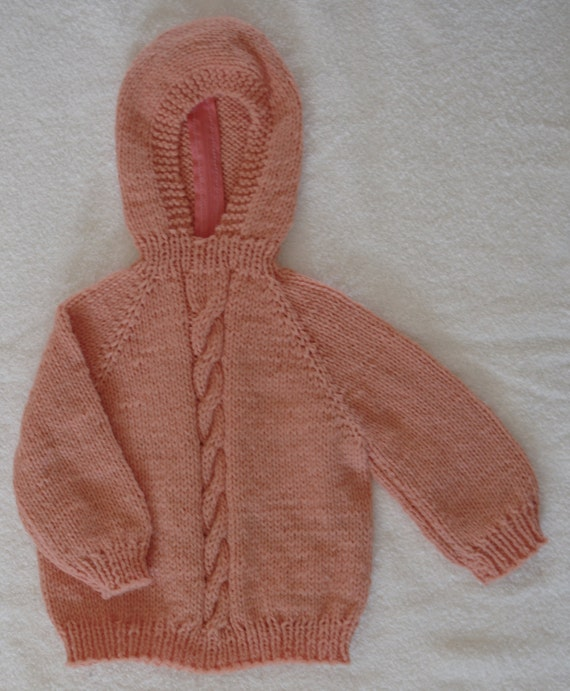 Knitted Hooded Baby Sweater with Back Zipper 12 by ...