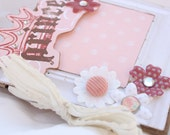 Pink Princess Mini Scrapbook Album with Bling