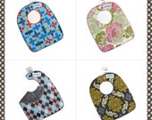 Set of Three Reversible Baby/Toddler Bibs...DESIGN YOUR OWN