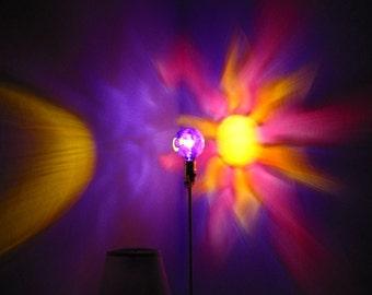 Sun Moon Star Purple Painted MoodLight Bulb/Night Light/Dorm Lighting/Kids Bedroom Lamp/Light Decoration/Wall Mural/Pink and Purple Bedroom