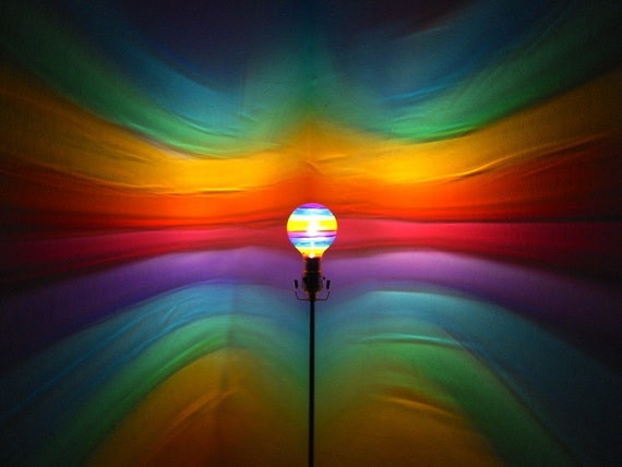 Rainbow painted moodlight bulb rainbow bedroom night for Mood light designs