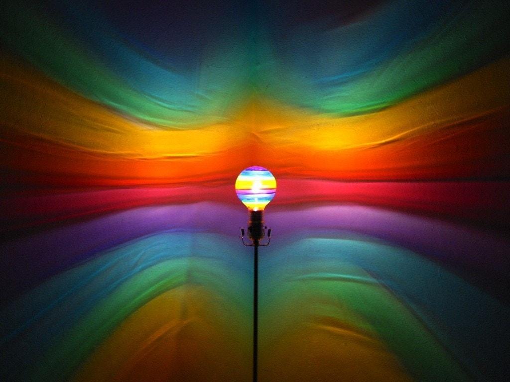 Rainbow Painted MoodLight Bulb/Rainbow Bedroom/Night:🔎zoom,Lighting