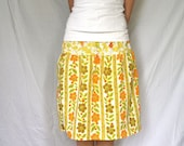 Upcycled Women's Skirt - Metamorphosis - size S/M - Handcrafted with Love from Vintage Bed Sheets
