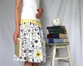 Women's Upcycled Skirt - City Summertime - Handcrafted with Love from Vintage Bed Sheets