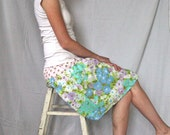 Women's Upcycled Skirt - Summer Wish Skirt - Handcrafted with Love from Vintage Bed Sheets