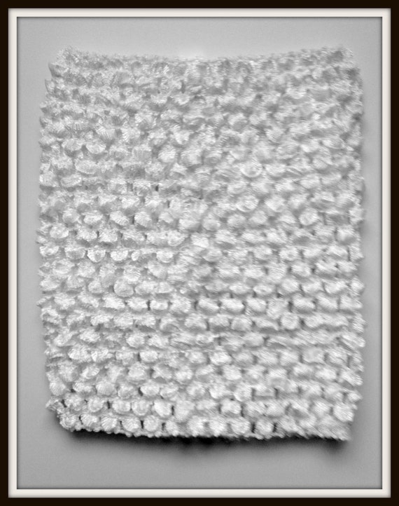 "Extra Large 10"" Crochet Tutu Tube Top - White"