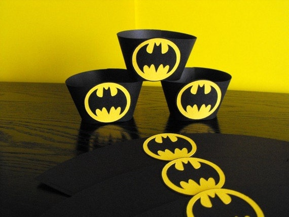 Batman Birthday Cupcake Wrappers