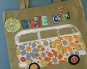Tote,VW Hippie Chick