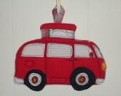 VW Camper Bus Potholder, Camping Series Potholder, Pick a Color