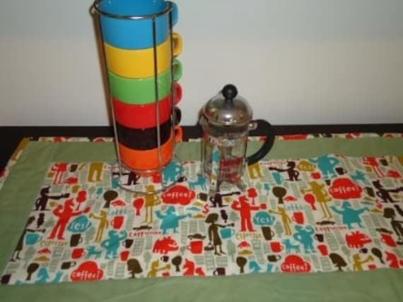Clearance Table Runner,City Coffee