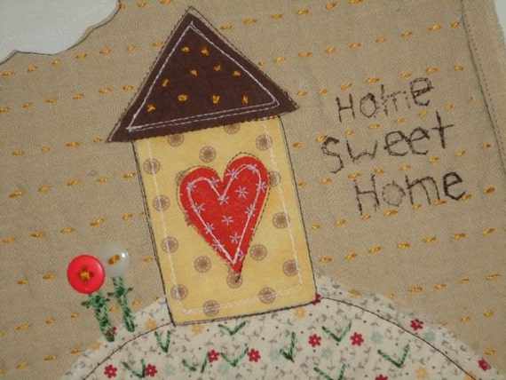 Clearance, Home Sweet Home, Folk Art Wallhanging, was 20.00